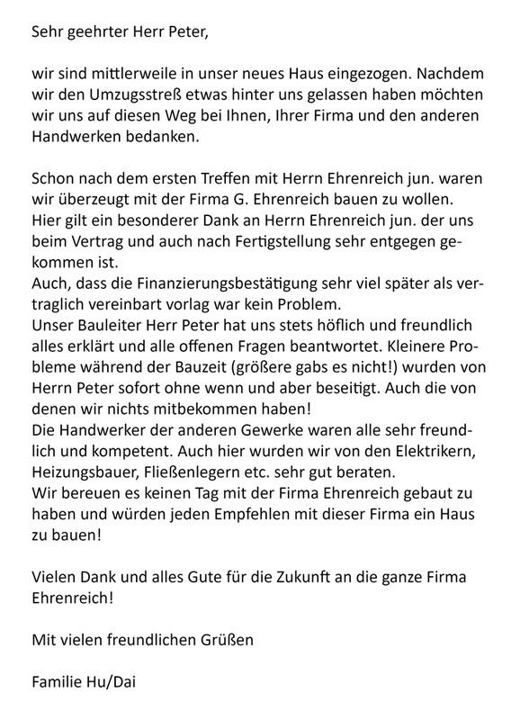 Referenzschreiben - Georg Ehrenreich GmbH | Referenzen Ehrenreich ...